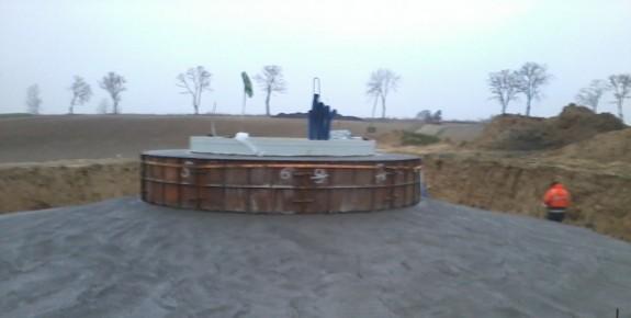 Fundament pod PowerWind pw56 Piątkowo Listopad 2011