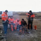 Fundament pod WindWorld 750 Wola Miedniewska grudzień 2011